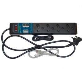 ClearLine Multiplug Surge Protector for Power & Data