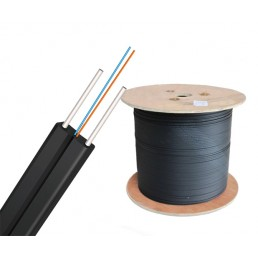 UltraLAN Fiber Bow Type Drop Cable (Black) - 2 Core