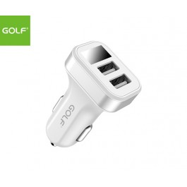 GOLF Dual USB Port Smart Car Charger with LED display