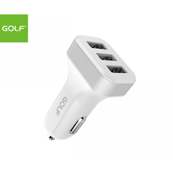 GOLF Triple USB Port Smart Car Charger