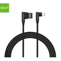 GOLF 1meter Apple/Lightning (90degree) Cable - Black