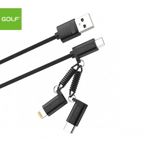 GOLF 3-in-1 Cable (Ligtning, MicroUSB, Type-C)