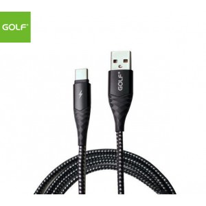 GOLF 1meter 3A Fast Charge Braided Type-C Cable