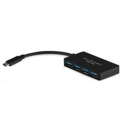 USB Type-C to 4 Port USB 3.0 Hub