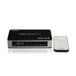 5 Port HDMI Switch with IR Remote (with 3D and 4K Support)