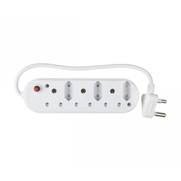 6-Way Multi Plug (3x16A and 3x5A) - 50cm Power Cord