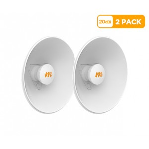 Mimosa N5-X20 twist-on 5GHz 20dBi antenna 270mm (2 Pack)