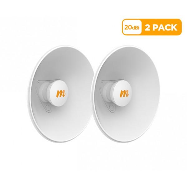 Mimosa N5-X20 twist-on 5GHz 20dBi antenna 270mm (2 Pack)