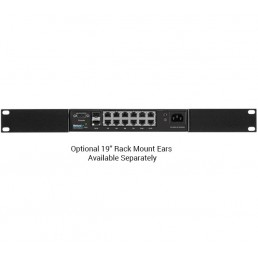 Netonix 12port PoE switch with 2 SFP Ports (WS-12-DC)