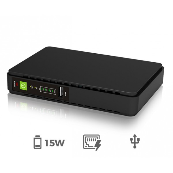 Micro UPS (DC-to-DC 15W) with PoE