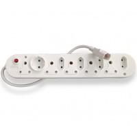 Multi Plug with IEC Cord (5x16A + 5x5A) - White