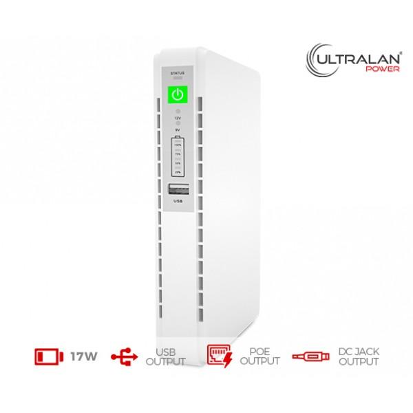 UltraLAN Micro UPS (DC, USB & PoE) - 17W 8.8AH
