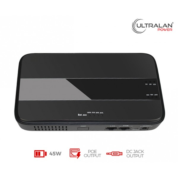 UltraLAN Micro UPS (DC & PoE) - 45W 8.8AH