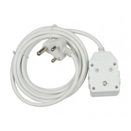 3m 10A Extension Cord with Double Coupler