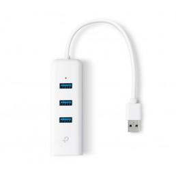 TP-LINK USB 3.0 to Gigabit Ethernet and 3-port USB Hub Adapter (TL-UE330)
