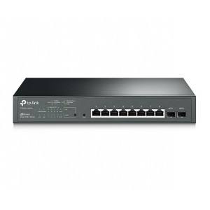 TP-LINK 8-Port Gigabit Smart PoE+ Switch with 2 SFP Slots (T1500G-10MPS)
