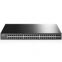 JetStream 48-Port Gigabit Smart PoE+ Switch with 4 SFP Slots (T1600G-52PS)