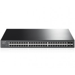 JetStream 48-Port Gigabit Smart PoE+ Switch with 4 SFP Slots (T1600G-52PS)