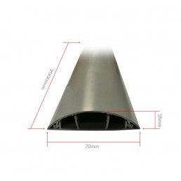 70mm PVC Floor Trunking (half moon)