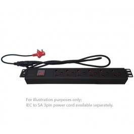 UltraLAN 6-socket (3pin SA sockets) PDU with IEC Power Cord