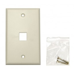 Single Port Faceplate (115x70mm)