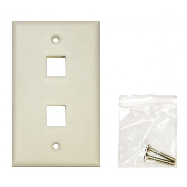Double Port Faceplate (115x70mm)