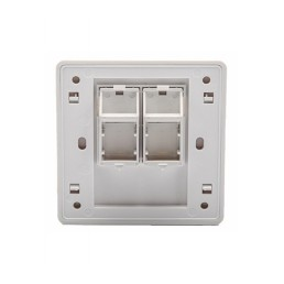 Double Port Faceplate