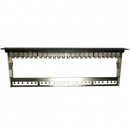 24 Port CAT6A Shielded Patch Panel
