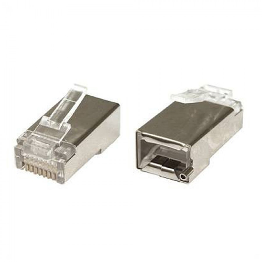 Shielded Rj45 Connector With Grounding Terminal