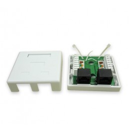 CAT5e Double Port Surface Mount Box
