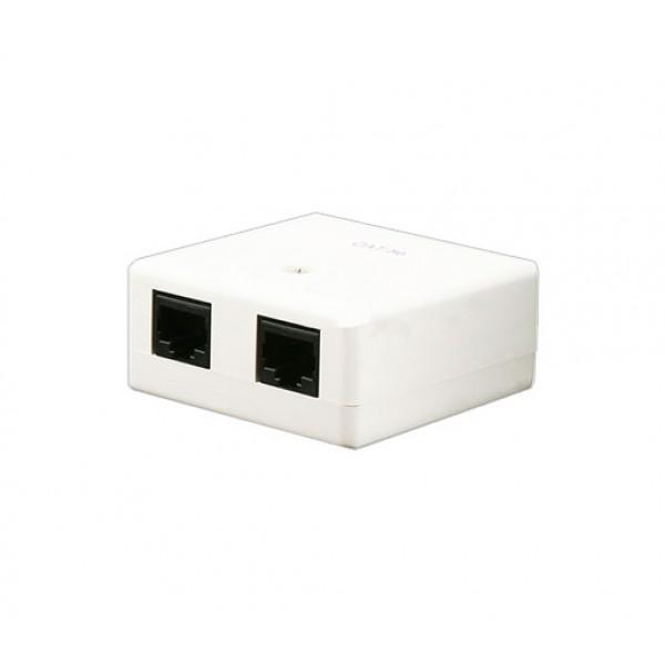 CAT5e Double Port Surface Mount Box