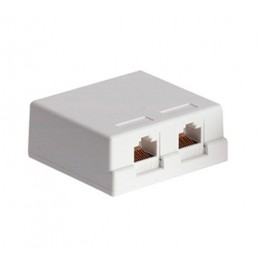 CAT6 Double Port Surface Mount Box
