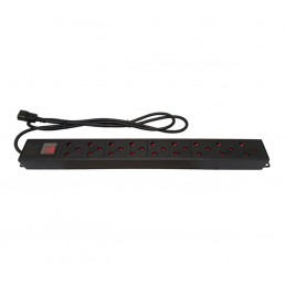 UltraLAN 9-socket (3pin SA sockets) PDU with IEC Power Cord