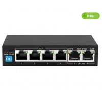 UltraLAN 4 Port 60W Fast Ethernet Switch with 4 AI PoE and 2 Uplink Ports