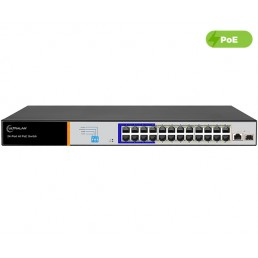 UltraLAN 24 Port 250W Fast Ethernet AI PoE Switch with 1 SFP/GE Uplink