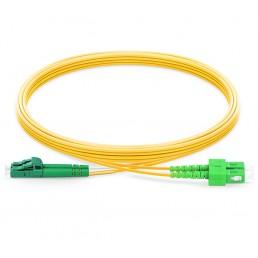 UltraLAN Fiber Flylead LC-SC APC SM Duplex (1Meter)