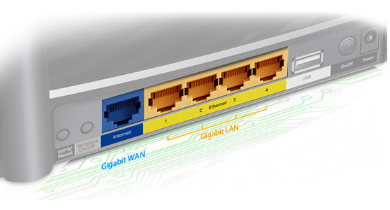Image result for Full Gigabit Wired Connections With one Gigabit WAN port and four Gigabit LAN ports, speeds can be up to 10× faster than fast Ethernet connections. The Archer C2 is a powerful hub to support a robust and extremely fast wired network.