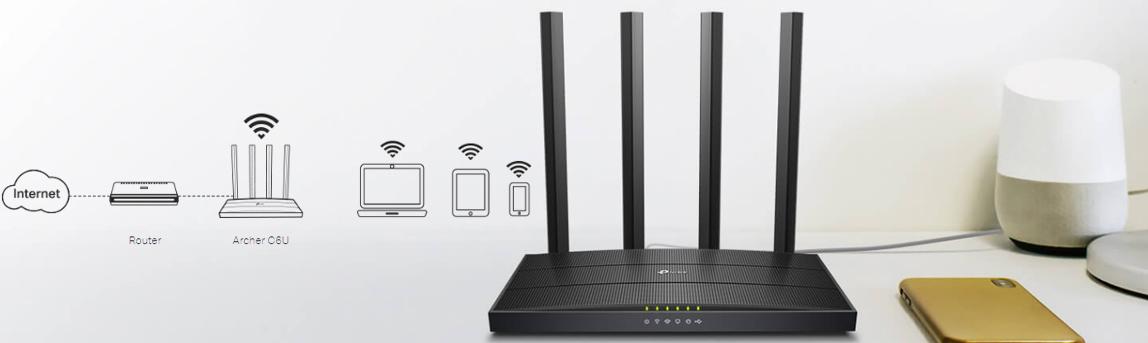 TP-LINK Archer C6U - AC1200 Wireless MU-MIMO Gigabit Router (TL-WDRAC6U)